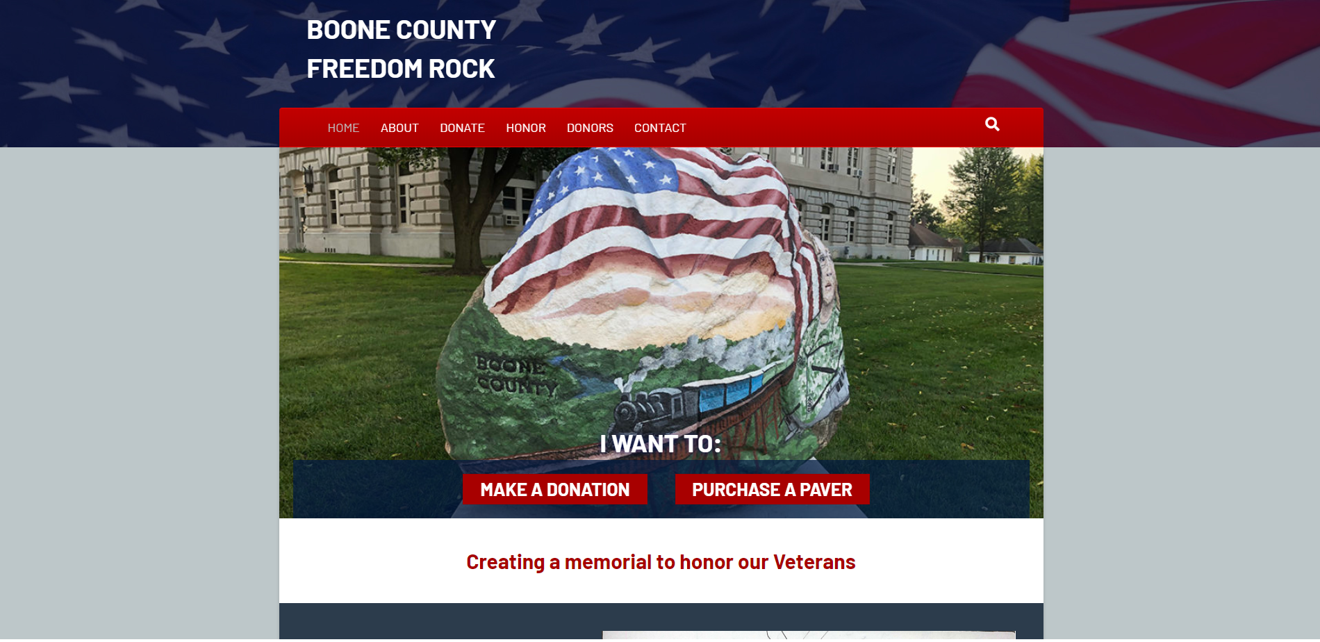 Boone County Freedom Rock - Website