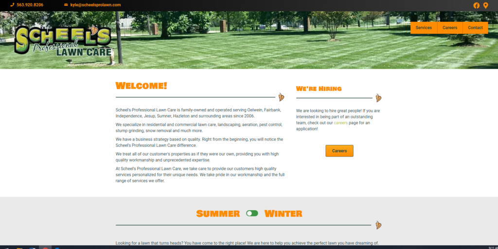 Scheel's Professional Lawn Care - Website