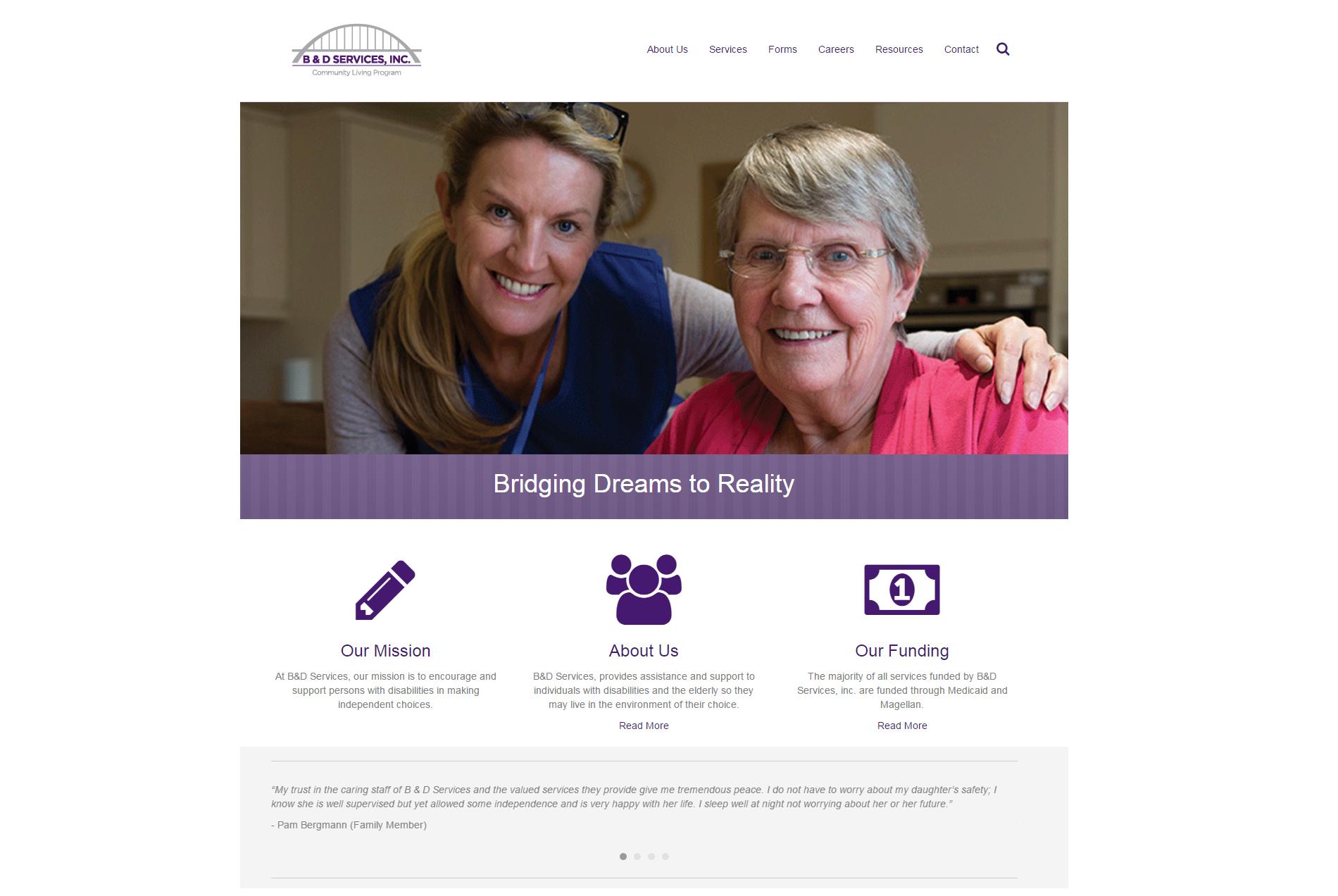 B&D Services - Website