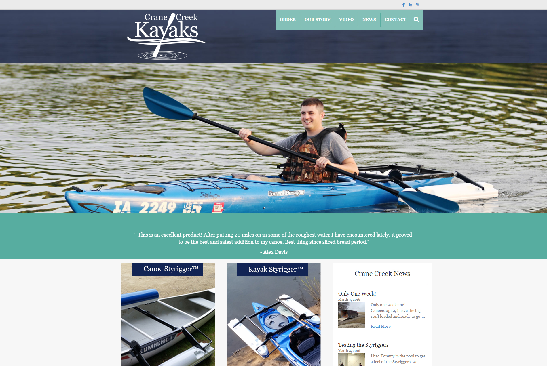Crane Creek Kayaks - Website