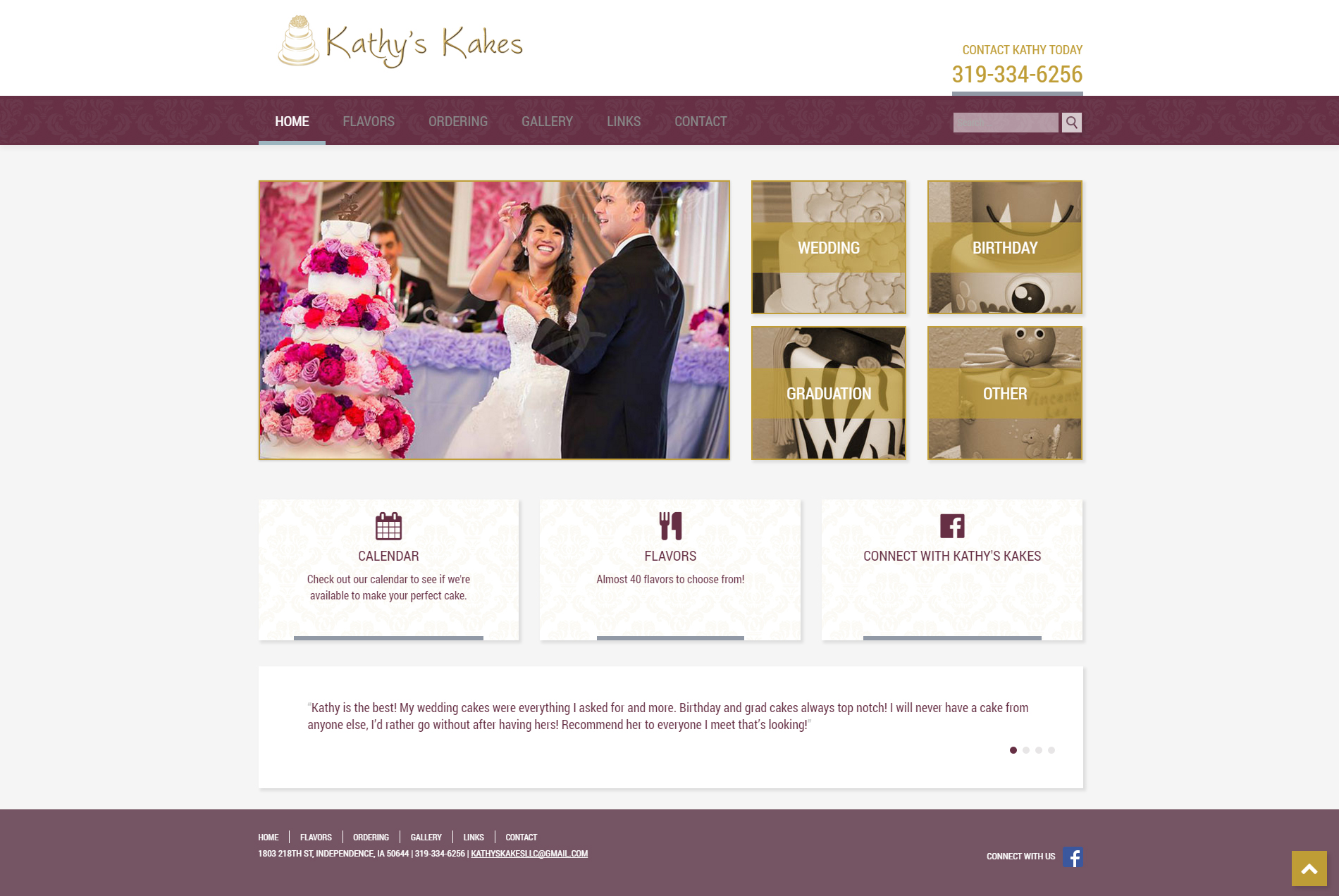 Kathy's Kakes - Website