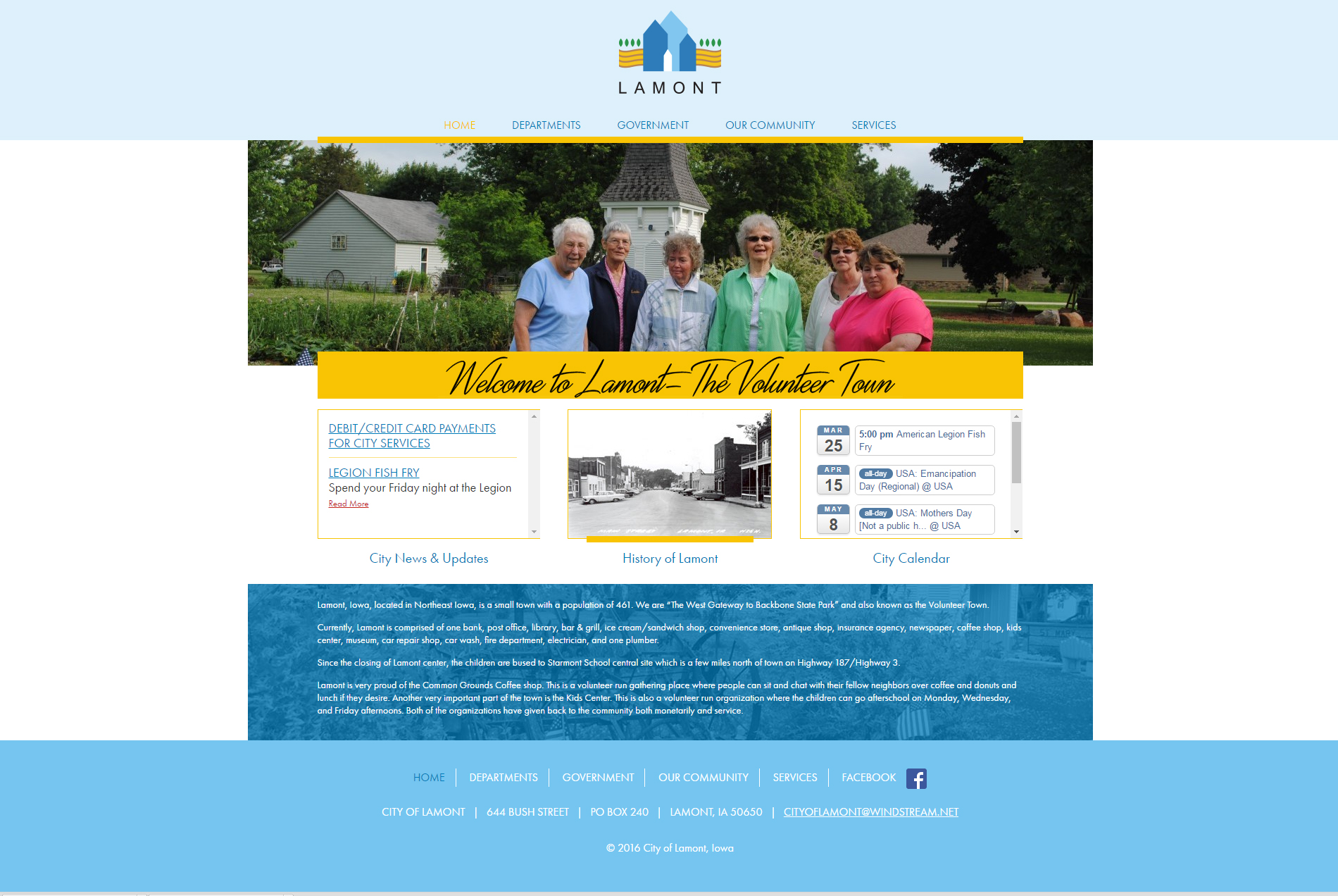 City of Lamont, Iowa - Website