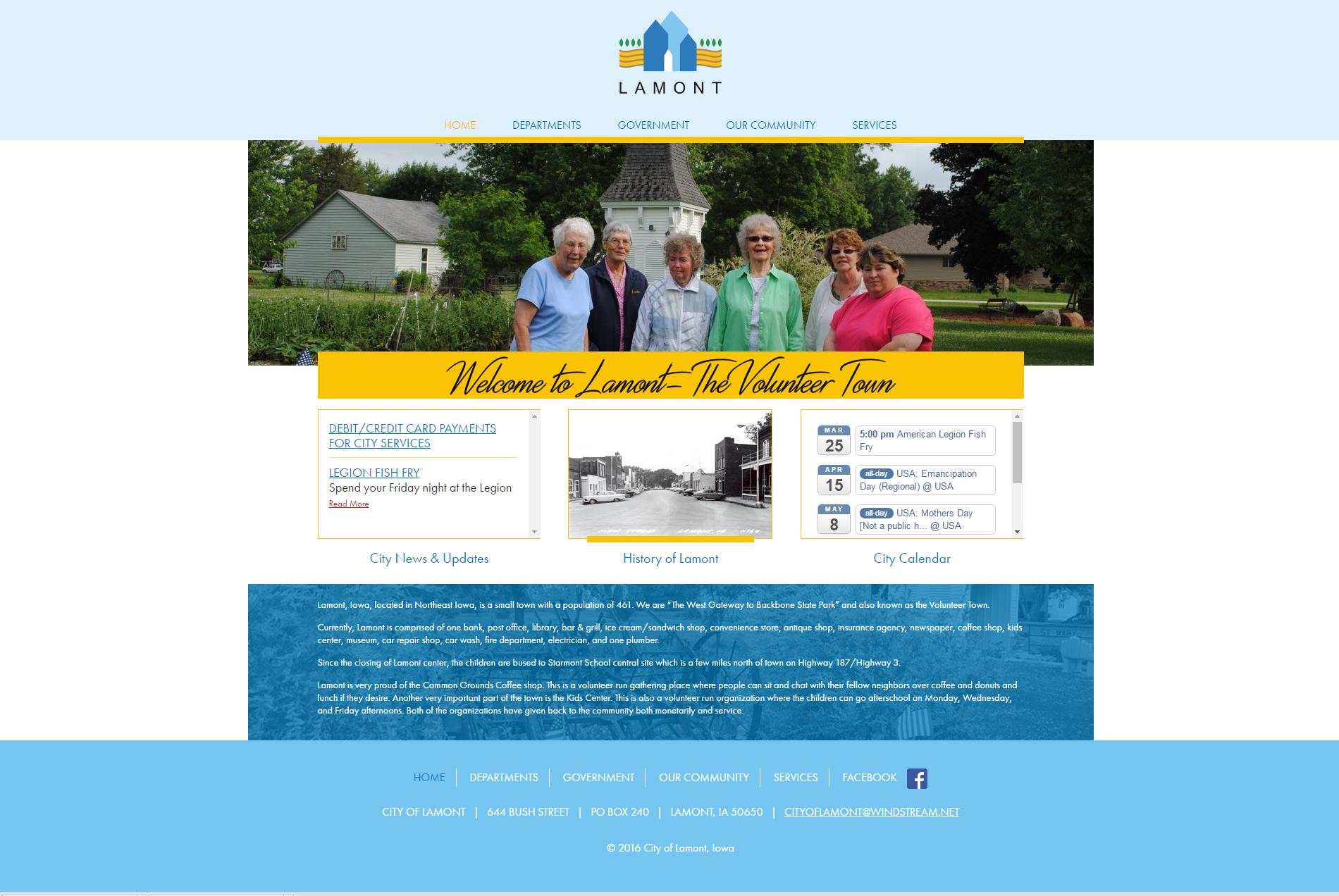 City of Lamont, Iowa - Website