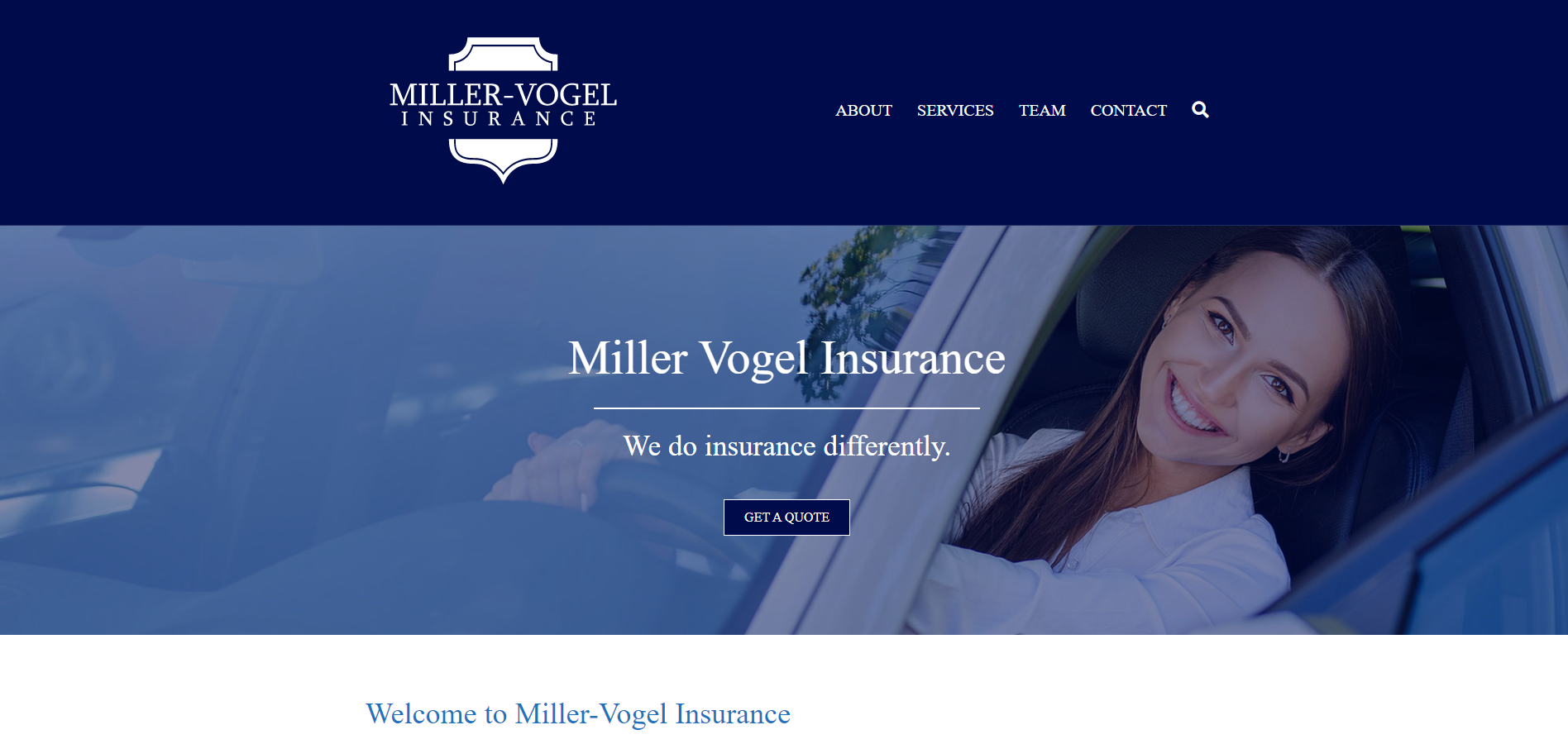 Miller-Vogel Insurance - Website