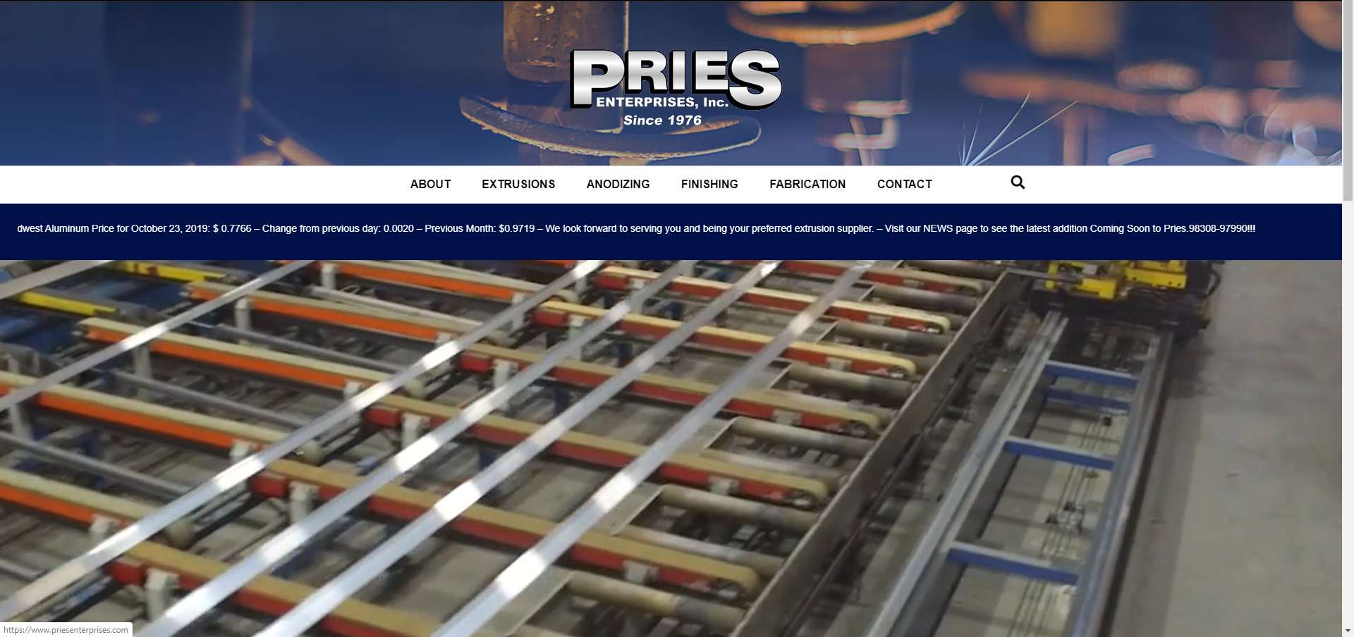 Pries Enterprises, Inc. - Website